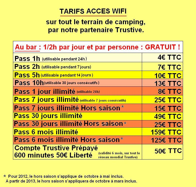 Rates Trustive wireless internet with our partner